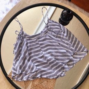 intimately free people blue and white striped flow